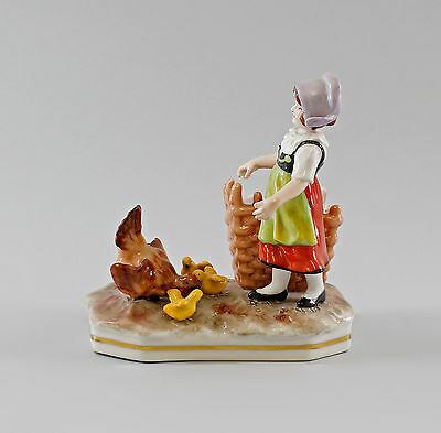 Ceramics & Porcelain Practical Porcelain Figure Girl With Chickens Ernst Bohne 5 1/2x5 7/8in 9997034 Agreeable Sweetness