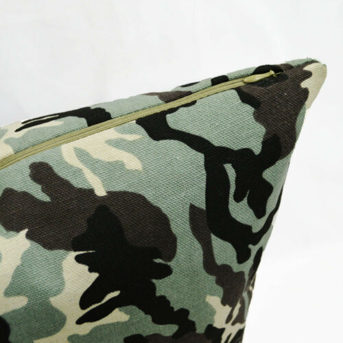 AL246a Camouflage Army Green Pure Cotton Canvas Fabric Cushion Cover//Pillow Case