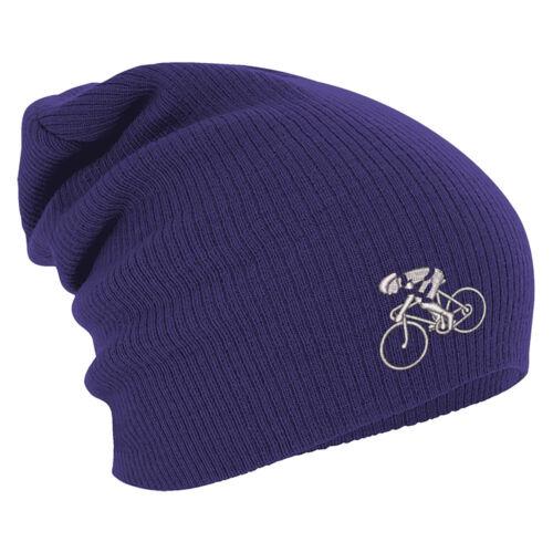Long Beanie winterbeanie bonne nuit de Avec Stick Motif Vélo Coureur 55193 Violet