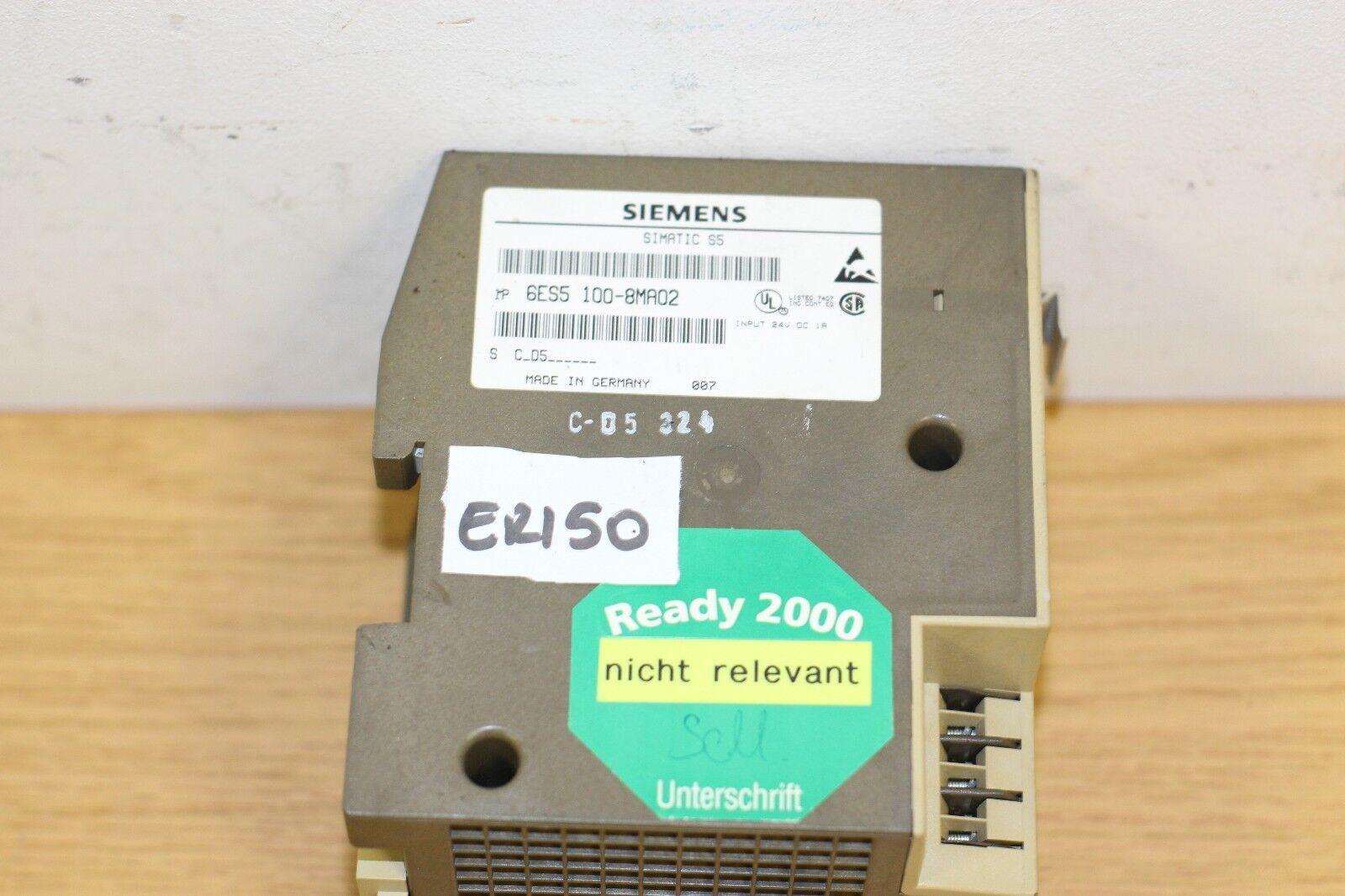 Siemens SIMATIC S5 6ES5 100-8MA02 6ES5100-8MA02