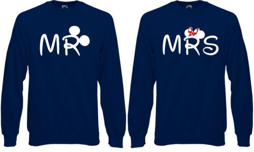 Amanti Ab87 Couple Felpa Maglia Disney Signora Mr Valentines Mickey q4XRxW