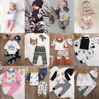 Toddler Infant Baby Boy Girl Clothes T-shirt Tops+Pants Legging 3pcs Outfits Set