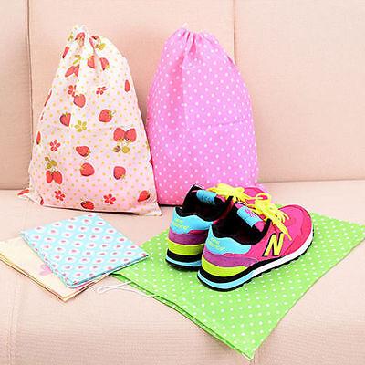 1X Portable Travel Clothes Sock Shoe Drawstring Holder Storage Bag Organizer