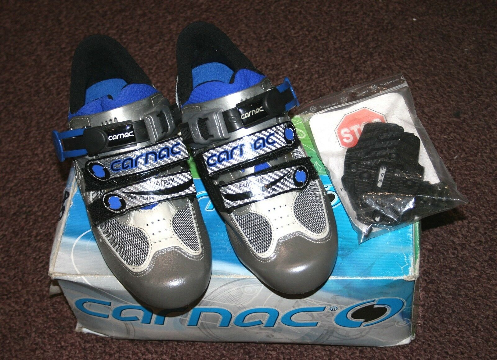 Reduced Price Carnac Matrix Race  Cycling shoes Grey  bluee NOS  selling well all over the world