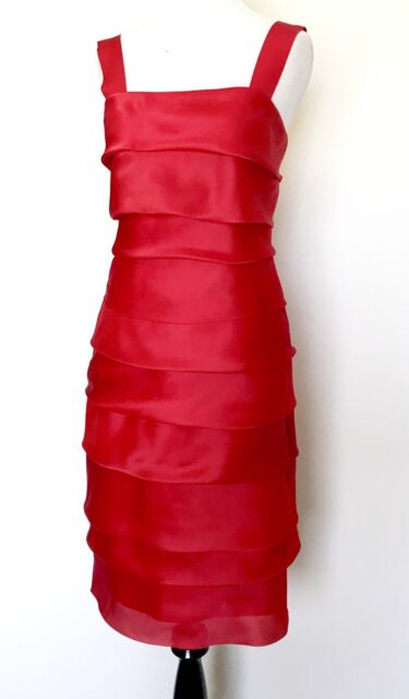 Carolina Herrera Red Silk Formal Dress Retails 1000 Nwt Price 398 Size 4