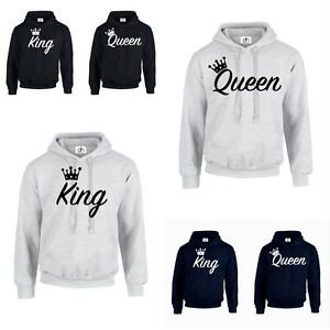 king queen crown 01 hoodie jumper mr mrs valentines day. Black Bedroom Furniture Sets. Home Design Ideas