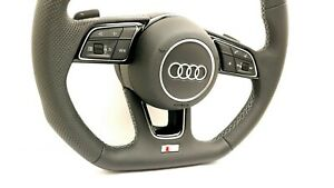NEU-Audi-A1-A3-A4-A5-36cm-S-Line-Lenkrad-mit-Airbag-82A419091-AH-8Y0880201-E