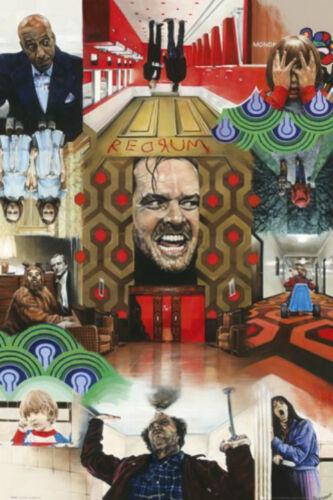 Stanley Kubrick Jack Nicholson hotel New The Shining Paul Stone Collage Poster