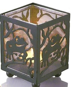 1-Frog-Tea-Light-Candle-Holder-Screen-Behind-the-Metal-Frame-Cute-When-Burning