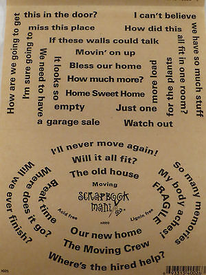 Clear w// Black Lettering Scrapbook Mania Phrase Stickers Sheet SCHOOL DAYS