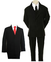 NEW BABY BOY CHILDREN FORMAL TUXEDO SUIT W/ EXTRA FREE RED TIE : New Born to 4T