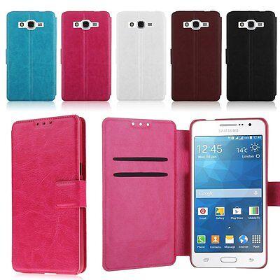 Funda Carcasa Cuero Flip Cover Case para Samsung Galaxy Grand Prime G530H G5308