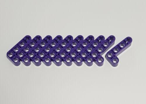 10x LEGO ® Technic Liftarm 2 x 4 trous forme de L Violet Foncé Pourpre 32140 plié