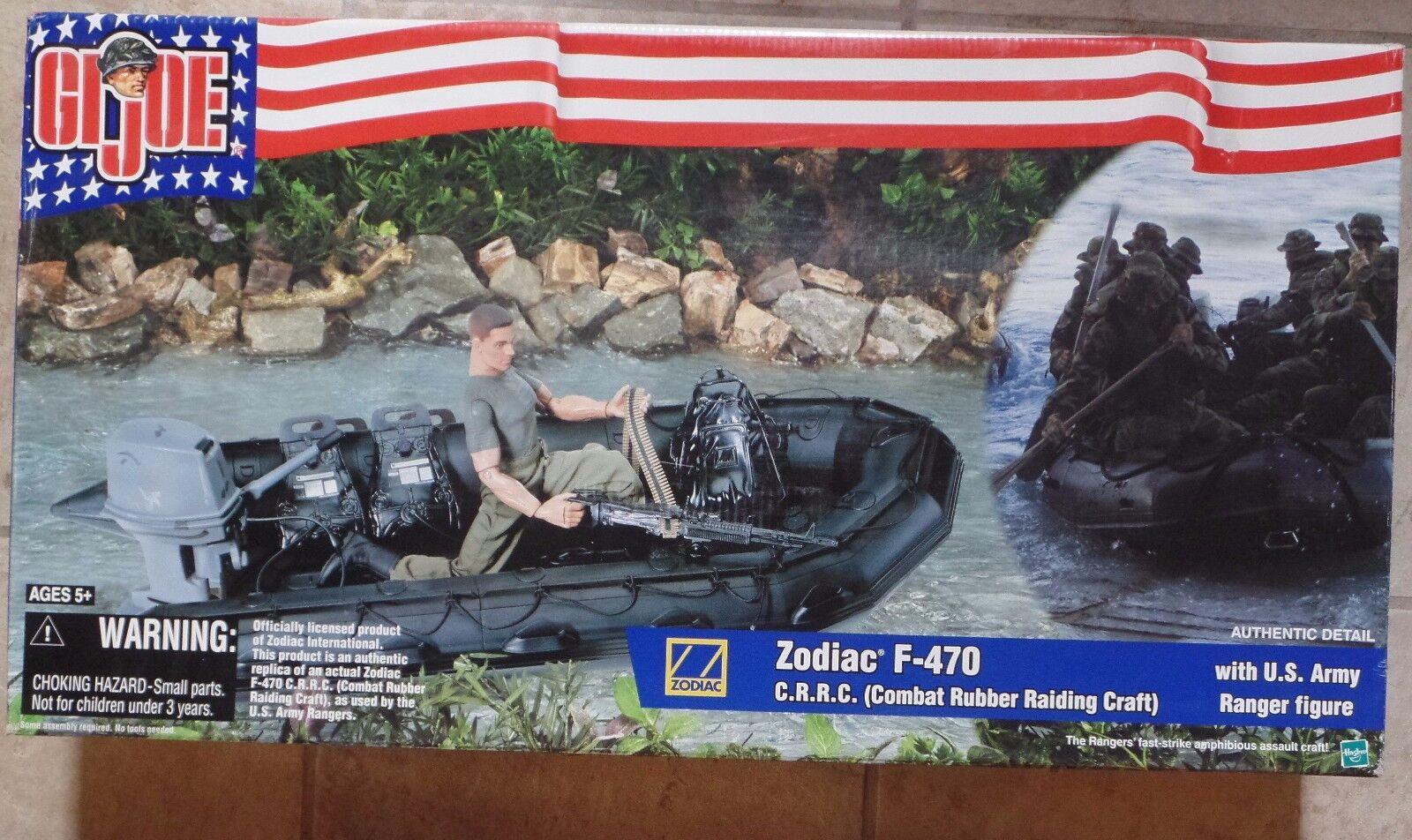 Gi Joe Zodiac F-470 c.r.r.c. con Us Army Ranger Figura Nuevo Sellado Menta en caja sellada 2002
