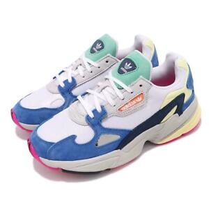 Details about adidas Originals Falcon W White Blue Green Yellow Women Lifestyle Shoes BB9174