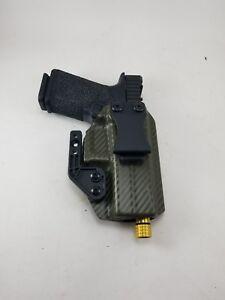 BLACK CARBON FIBER IWB Kydex Holster for Handguns with Olight PL-MINI Valkyrie
