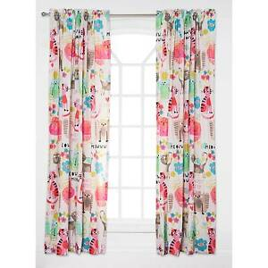girls crayola purrty cat curtain panels kids bedding window treatments curtains - Cat Curtains