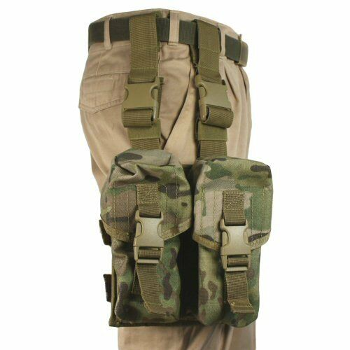 Bulle Multicam MTP MOLLE Military Tactical Large Double Mag Pouch Set
