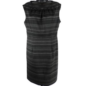 SOHO-Black-amp-Gray-Striped-Stretch-Sleeveless-Dress-Women-039-s-Size-8