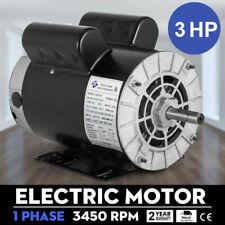 58 3hp Spl 1phase Electric Air Compressor Duty Motor 56 Frame Shaft 3450rpm