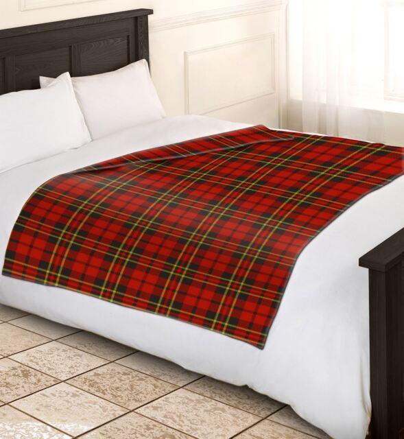 Soft Warm 200x240cm King Size Red Tartan Check Sofa Throw Bed Fleece Blanket c2ed1ba19