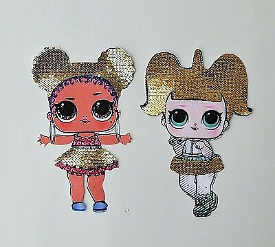 Lol Surprise Doll Sequin Fabric Sewn On Patch Badge Applique