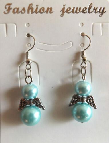 1 Paar Ohrhänger Glücksengel Engel mit Engelsflügel Schutzengel Ohrringe *