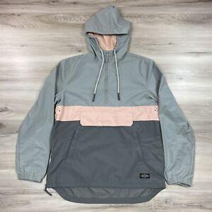 CPO Provisions Half Zip Hooded Lightweight Rain Wind Jacket Gray Men's Size XS