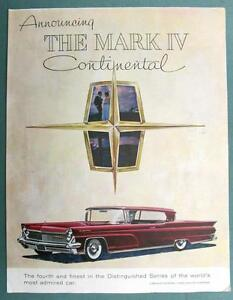 Image Is Loading Original 1959 Lincoln Continental Ad Annoucing The Mark