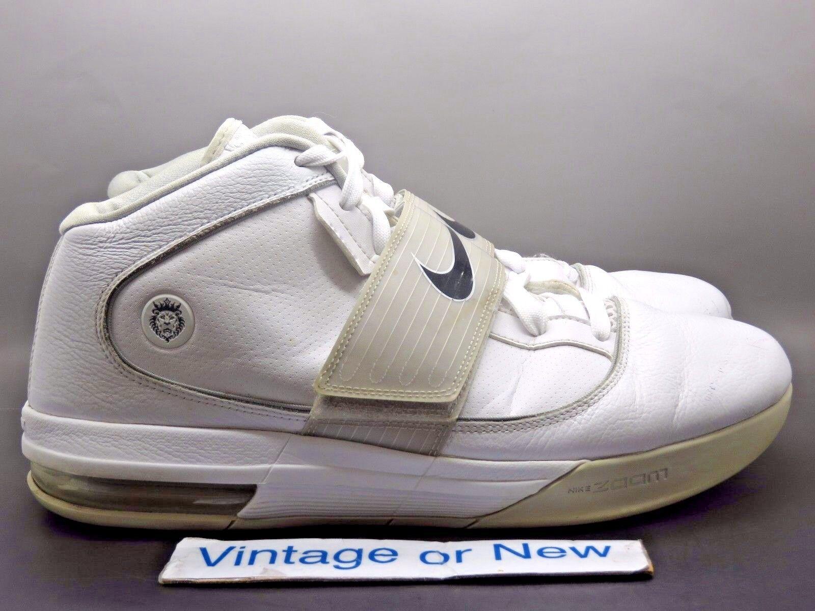 Nike Zoom Soldier IV 4 TB LeBron White Silver Black 2010 sz 13