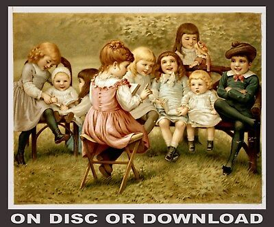 ANTIQUE CHILDREN/'S BOOK ILLUSTRATIONS Vol.2 Images by Timecamera Print /& Sell