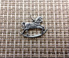 CHILD KIDS CHILDREN JEWELRY 6 ROCKING HORSE PEWTER CHARMS All New.
