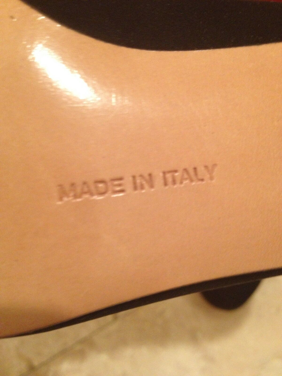 SALVATORE FERRAGAMO Black Suede Leather Classic gold gold gold Vara Bow Heels 7AA NEW BOX 008dec