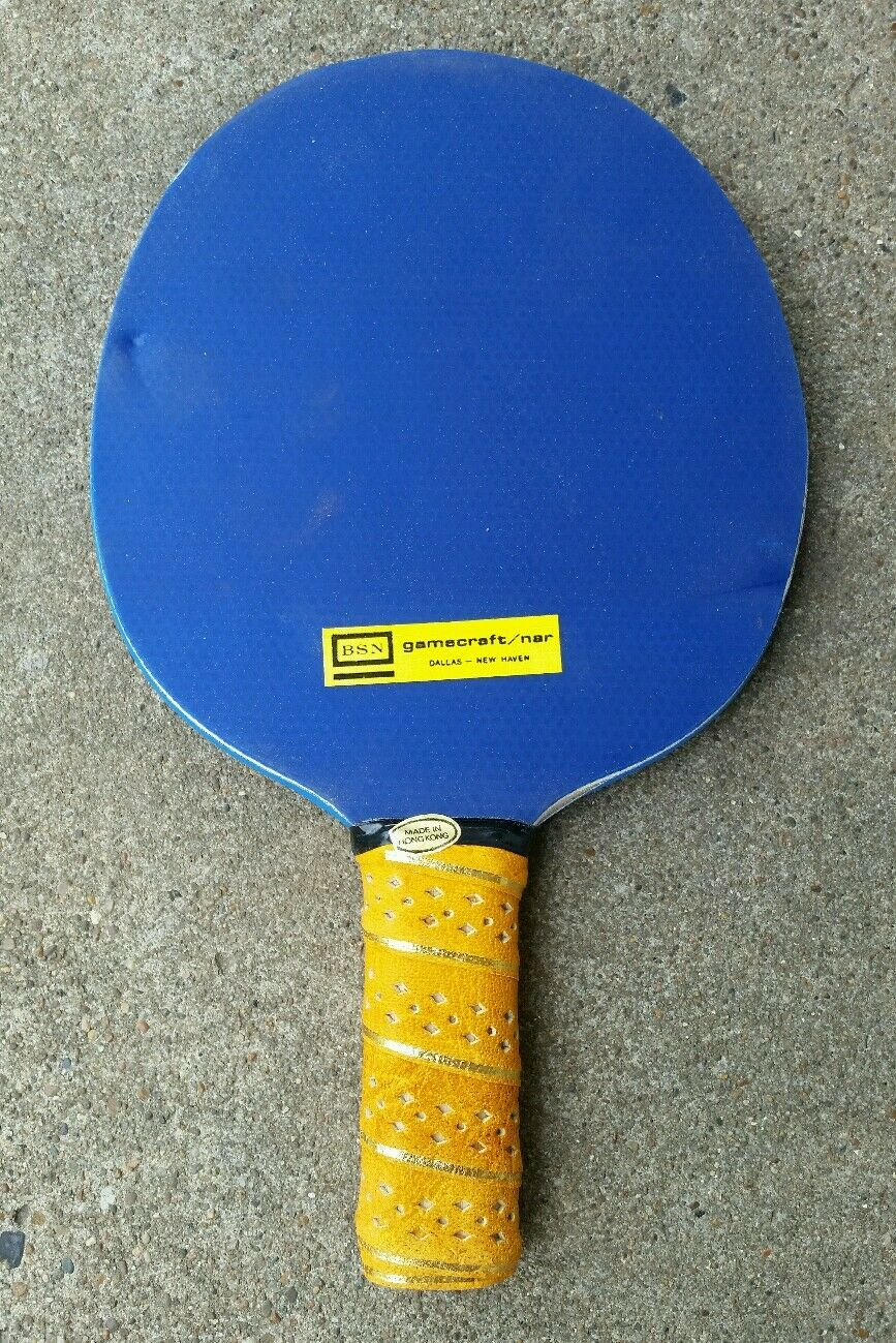 Vtg 60s 70s New NOS Padded Ping Pong Paddle Table Tennis BSN Gamecraft