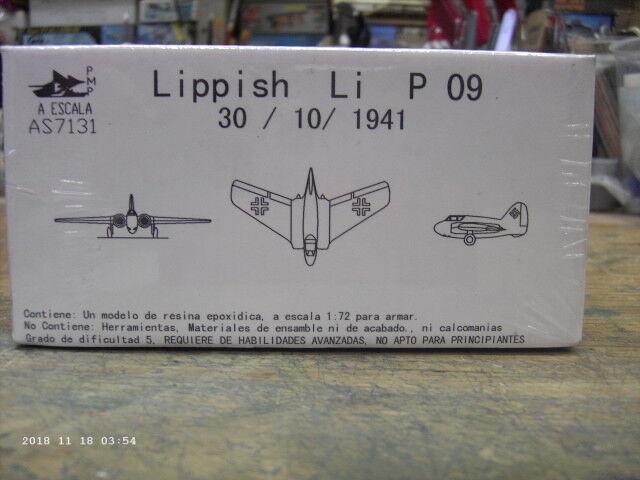Lippisch P09 30  10  1941, skala 1 72 varumärke AESCALA UNASESMBLED modellllerlerl Kit