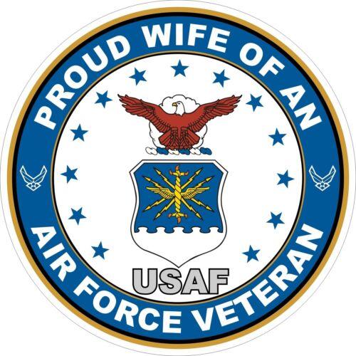 U.S Sticker Air Force Veteran Proud Wife Decal