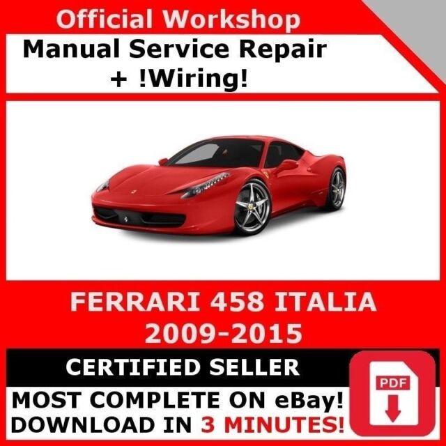 Ferrari 308 328 Workshop Manual With Diagrams  New
