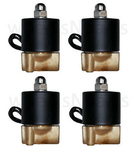 air ride suspension four 1 4 npt air valves brass solenoid for train horn custom. Black Bedroom Furniture Sets. Home Design Ideas
