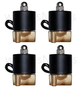 air ride suspension four 1 4 npt air valves brass solenoid for train horn custom. Black Bedroom Furniture Sets. Home Design Ideas