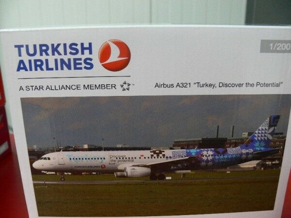 1 200 Herpa Turkish Airlines Airbus a321 Discover the Potential 557900