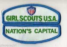 Nation's Capital ~ Junior Girl Scouts Council ID Patch Set