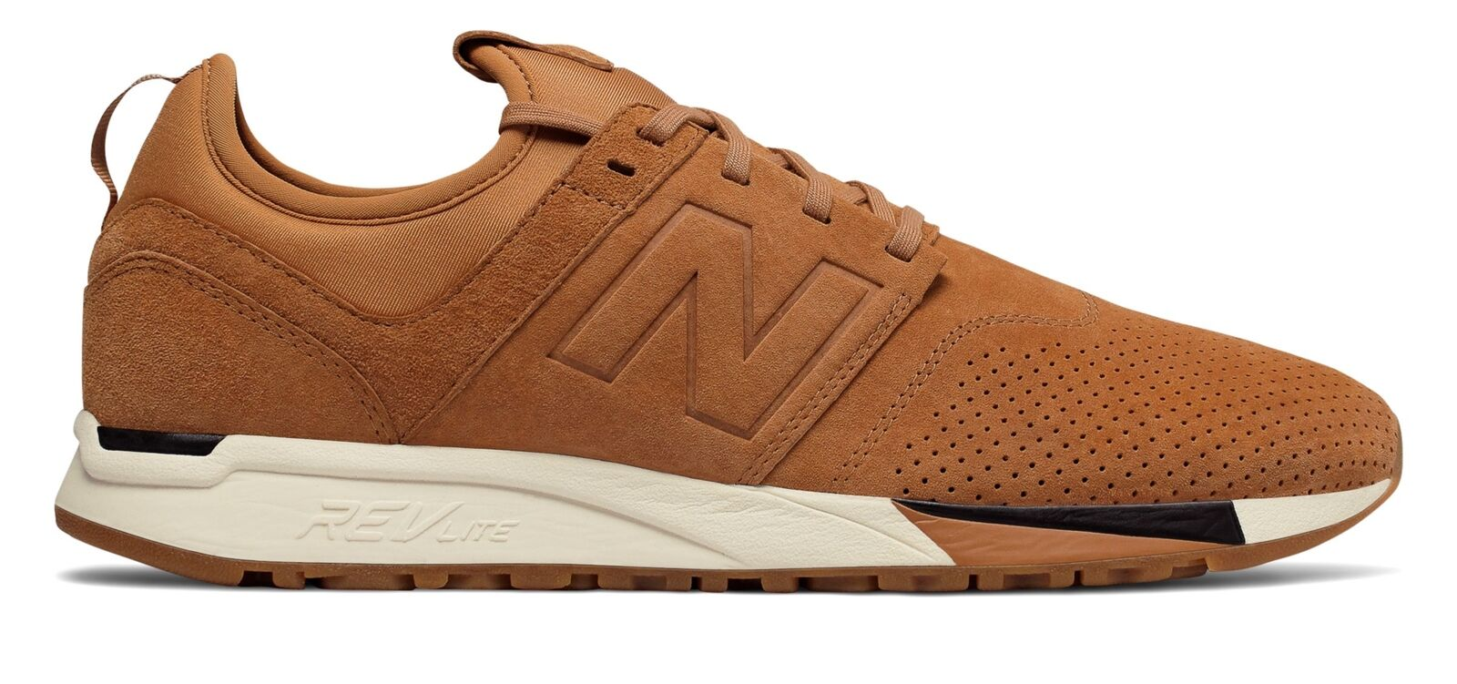 New Balance Men's 247 Luxe Shoes Tan with White & Black