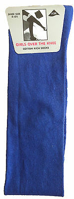 New Ladies Over The Knee  High Women's Stretch Girls Socks Sizes 4 - 6½ UK