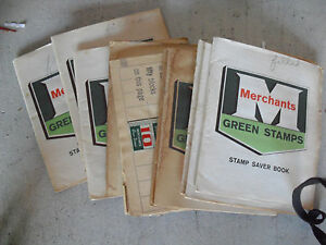 BIG Lot of Vintage Merchants Green Stamps in Books