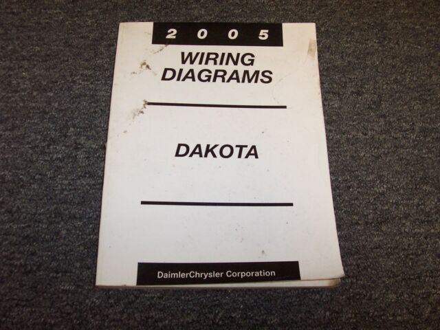 2005 Dodge Dakota Truck Electrical Wiring Diagram Manual Laramie Slt St V6 V8