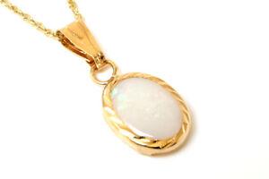9ct-Opal-Oval-Colgante-Collar-De-Oro-Y-Cadena-De-Regalo-en-Caja-Navidad-Hecho-en-Reino-Unido
