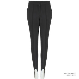 Stella-McCartney-Slate-Grey-Twill-Wool-Stirrup-Leg-Trousers-Pants-IT40-UK8