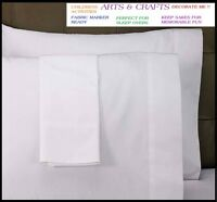 6 White Standard Pillow Cases Covers 20''x30'' Arts Crafts Slumber Party on sale