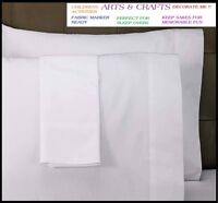 12 White Standard Pillow Cases Covers 20''x30'' Arts Crafts T180 on sale