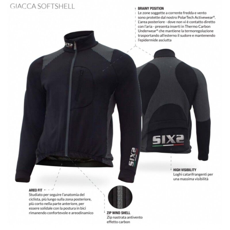 SIX2 GIUBBINO INVERNALE INVERNALE INVERNALE GIACCA SOFTSHELL ACTIVEWEAR 0ed5f9